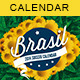 Soccer Brazil 14 Calendar | Match Schedule - GraphicRiver Item for Sale