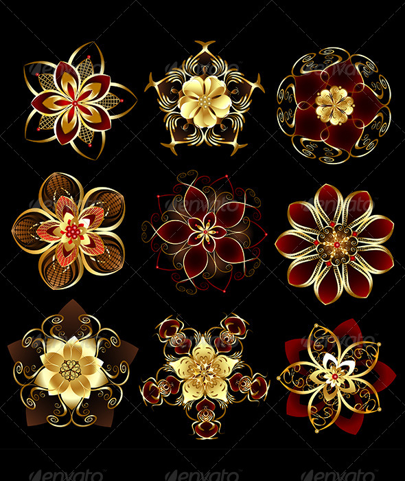 GraphicRiver Jewelry Abstract Flowers 7745604