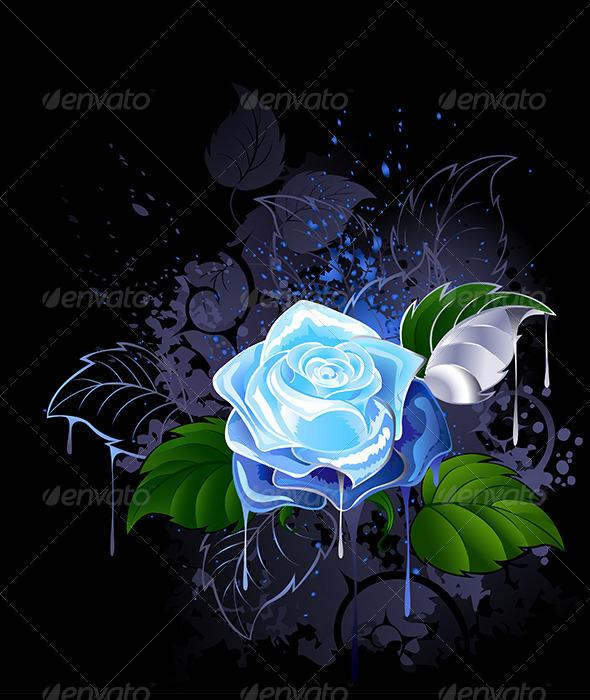GraphicRiver Blue Rose 7745624