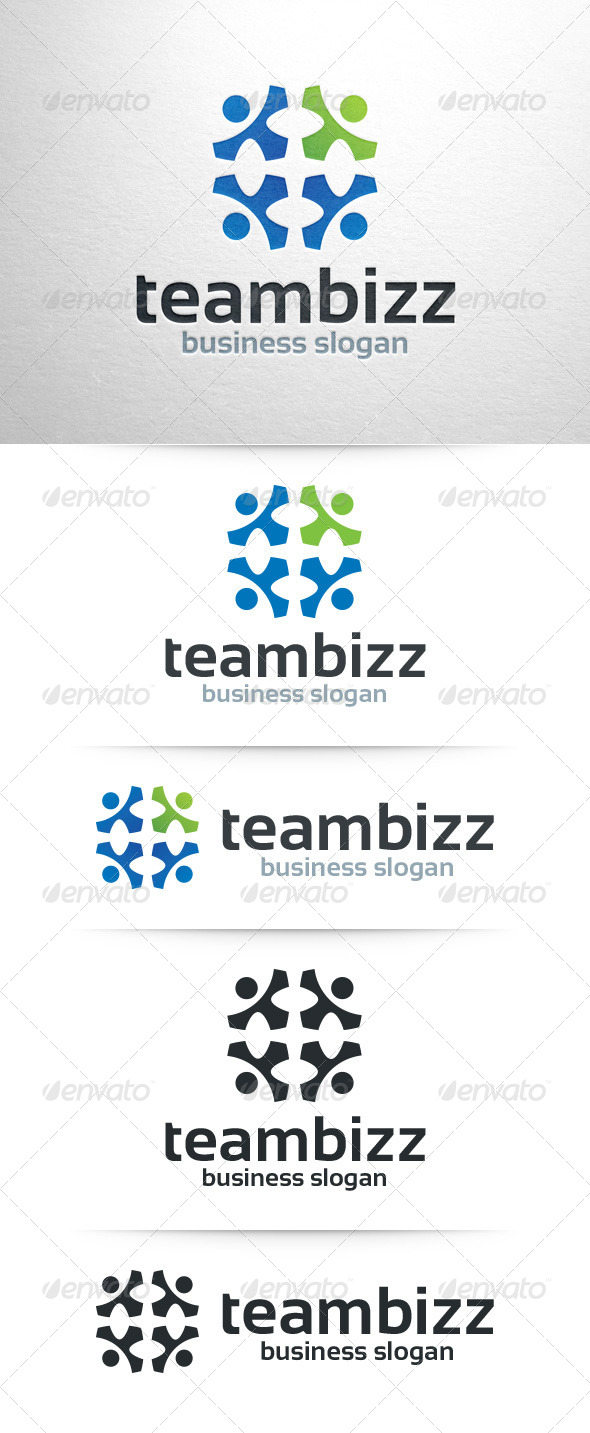 GraphicRiver Team Business Logo Template 7745772