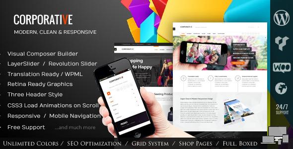 ThemeForest Corporative Multipurpose Wordpress Theme 7675542