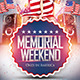 Memorial Day Weekend and 4th July Flyer - GraphicRiver Item for Sale