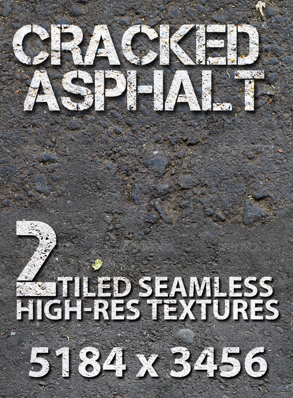 GraphicRiver Asphalt Broken Road Tiled Texture 7745866