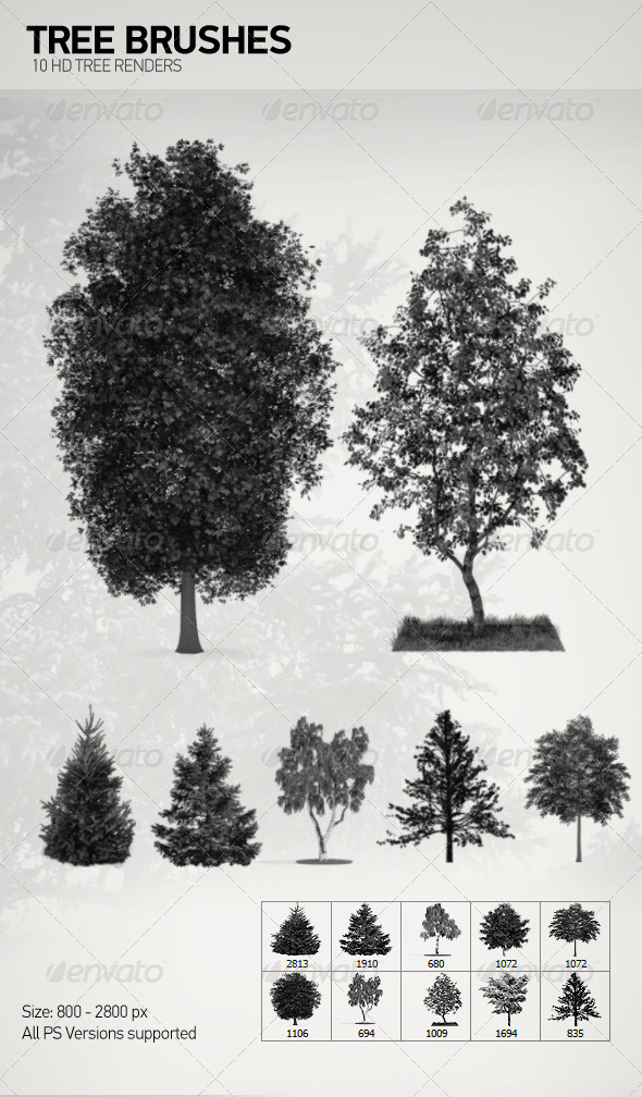 GraphicRiver Tree Brushes 7671812