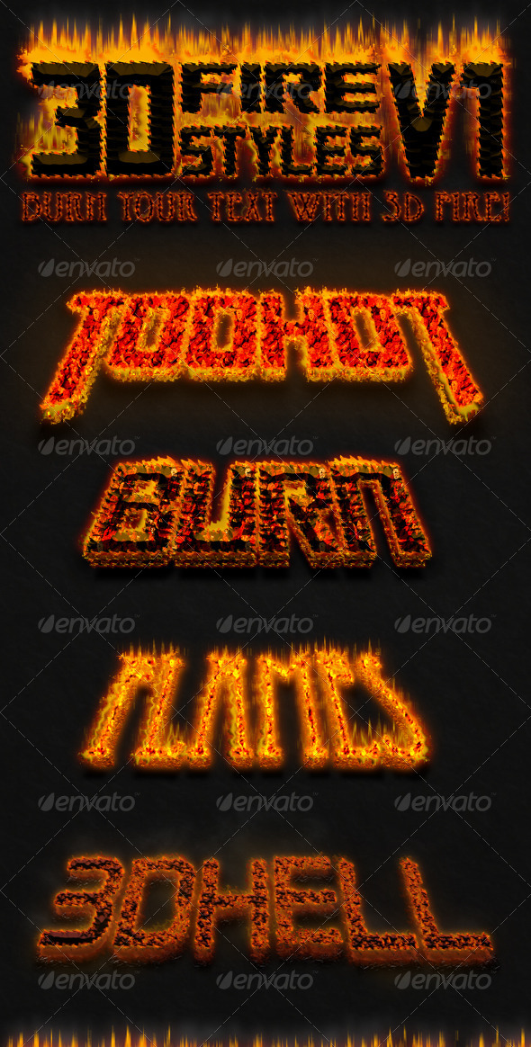 GraphicRiver 3D Fire Styles v.1 7746184