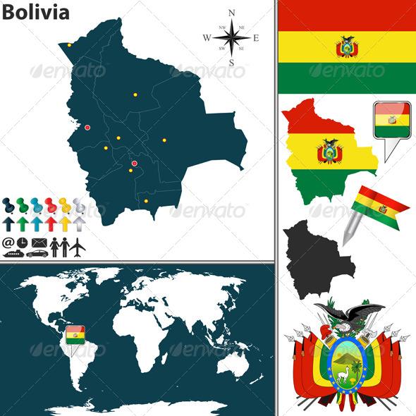 GraphicRiver Map of Bolivia 7746191