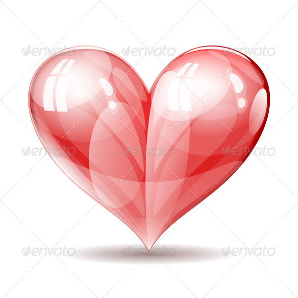 GraphicRiver Shiny Glossy Heart Illustration 7746238