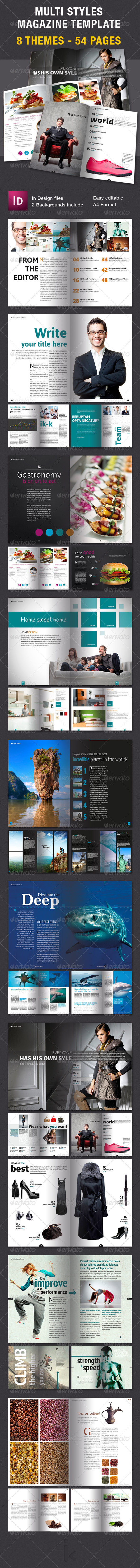 GraphicRiver Multi Themes Magazine Template 7746421