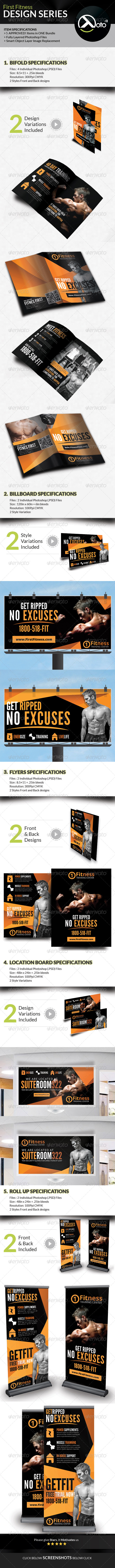 GraphicRiver Fitness First Design Series Bundle 7722164