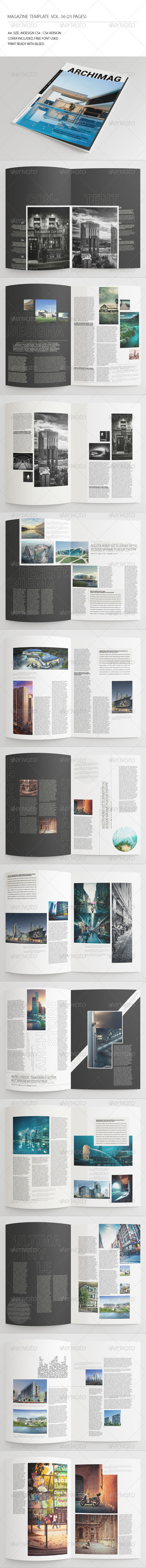 GraphicRiver 25 Pages Architecture Magazine Vol56 7746435
