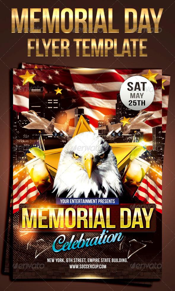 GraphicRiver Memorial day celebration flyer 7746690
