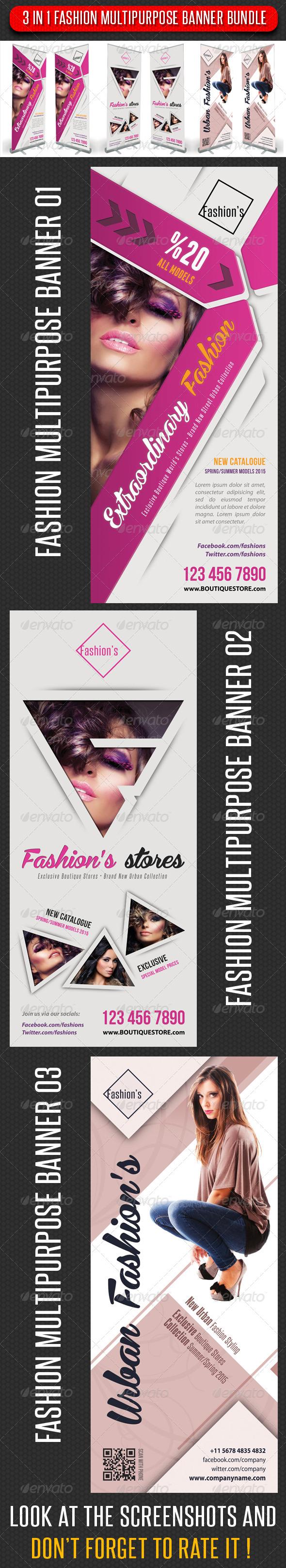 GraphicRiver 3 in 1 Fashion Multipurpose Banner Bundle 13 7746883
