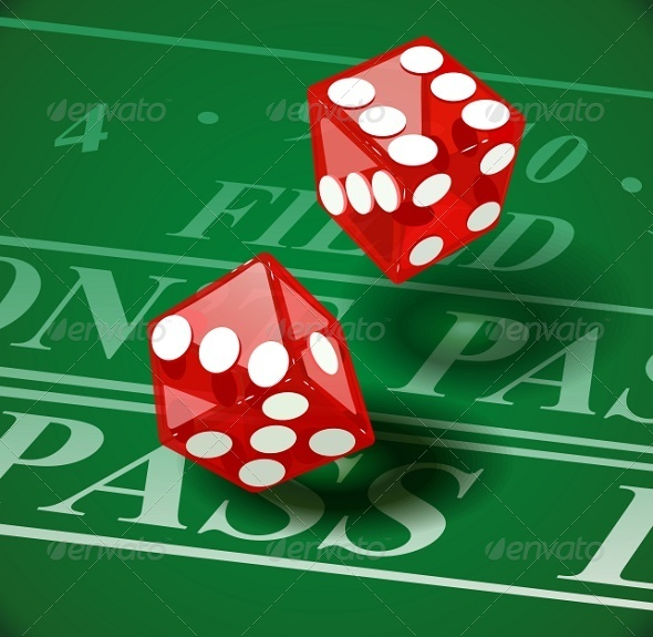 GraphicRiver Playing Dice on Casino Table 7746996