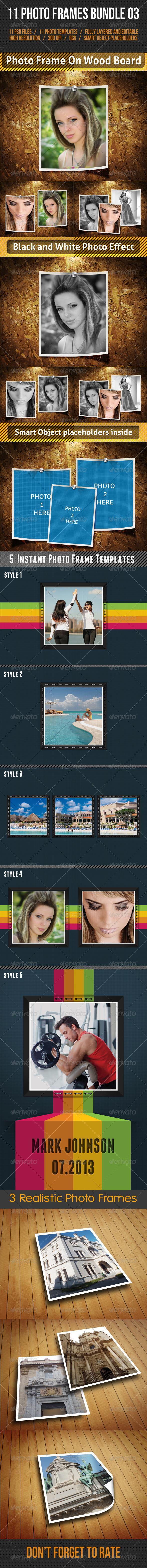 GraphicRiver 11 Photo Frames Bundle 03 7747157