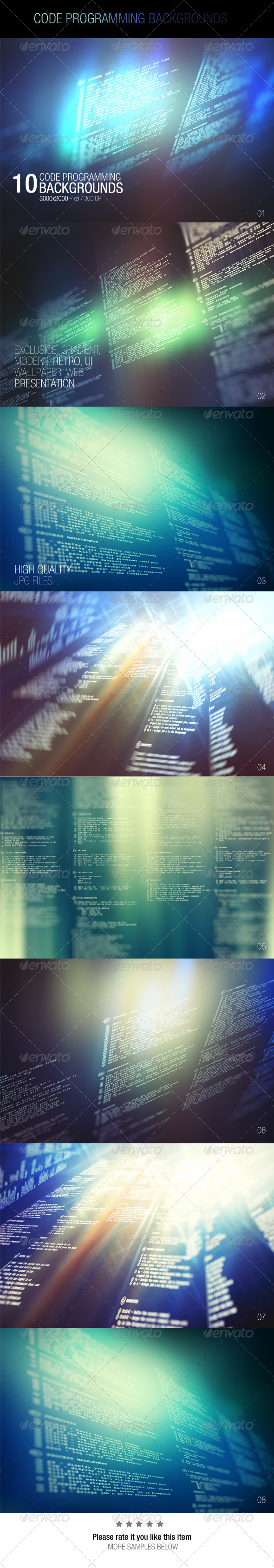 GraphicRiver Code Programming Backgrounds 7747170