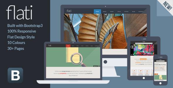 Flati - Responsive Flat Design Bootstrap Template - Portfolio Creative