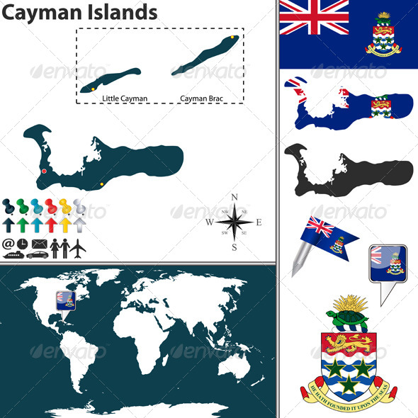 GraphicRiver Map of Cayman Islands 7747272