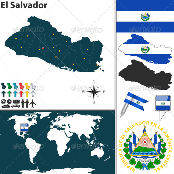 GraphicRiver Map of El Salvador 7747285