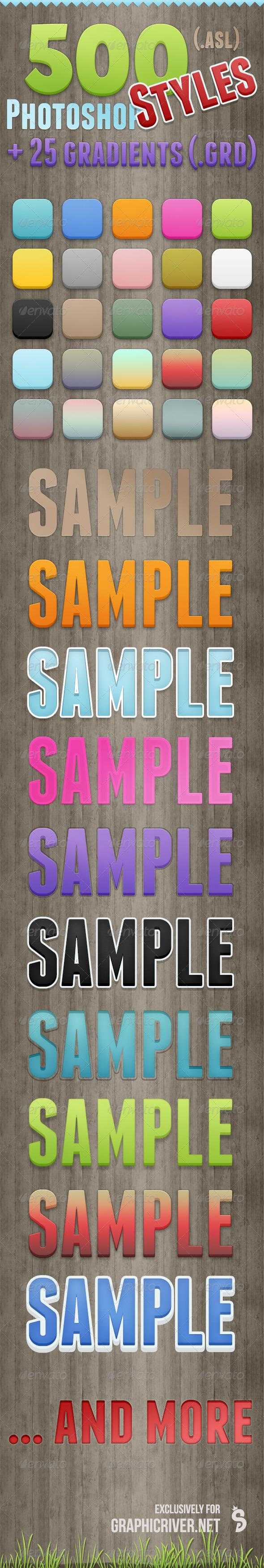 GraphicRiver 500 Photoshop Styles 7747288