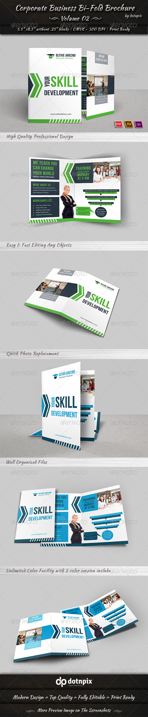 GraphicRiver Corporate Business Bi-Fold Brochure Volume 2 7747419