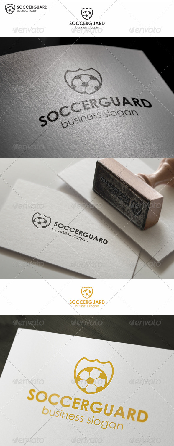 GraphicRiver Soccer Protection Guard Logo 7747423