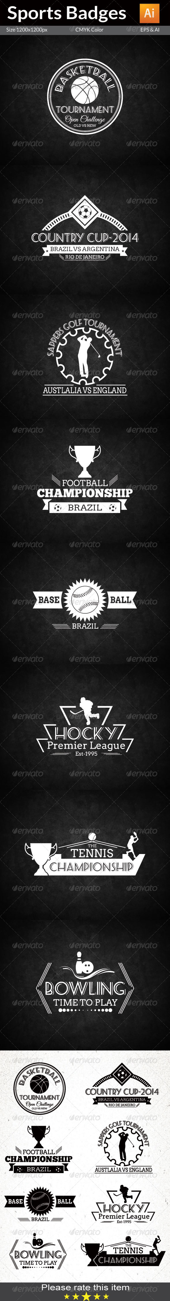 GraphicRiver Sports Badges 7731893