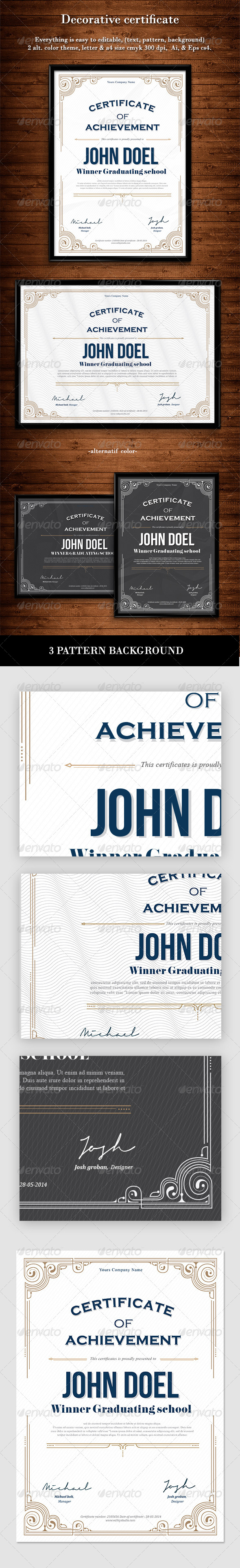 GraphicRiver Decorative Certificate 7747512