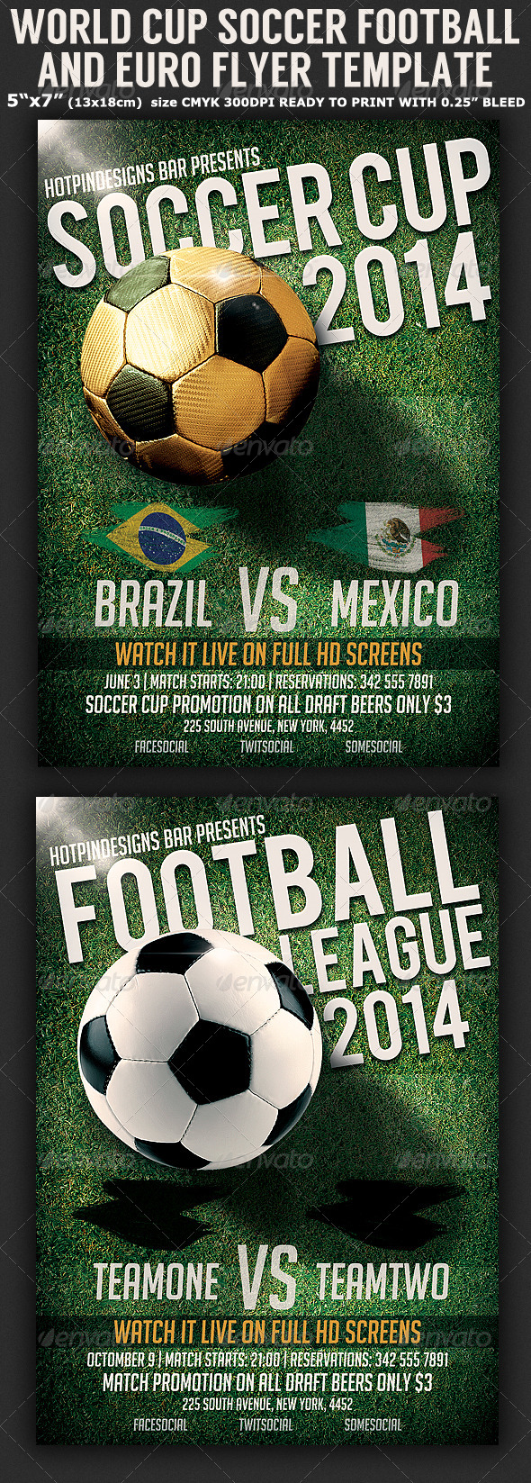 GraphicRiver Brazil Soccer Football Cup Flyer Template 7722239
