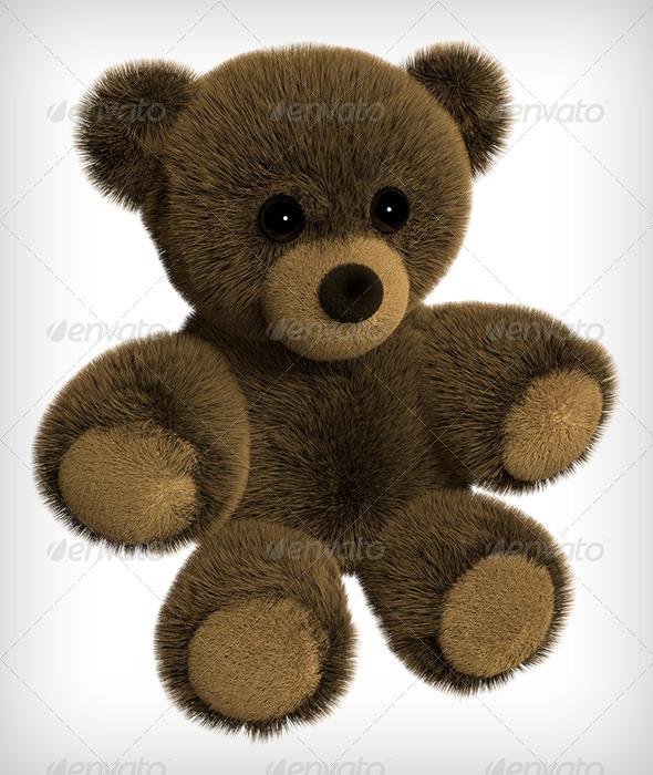 GraphicRiver Brown Teddy Bear 3D Rendering 7747908