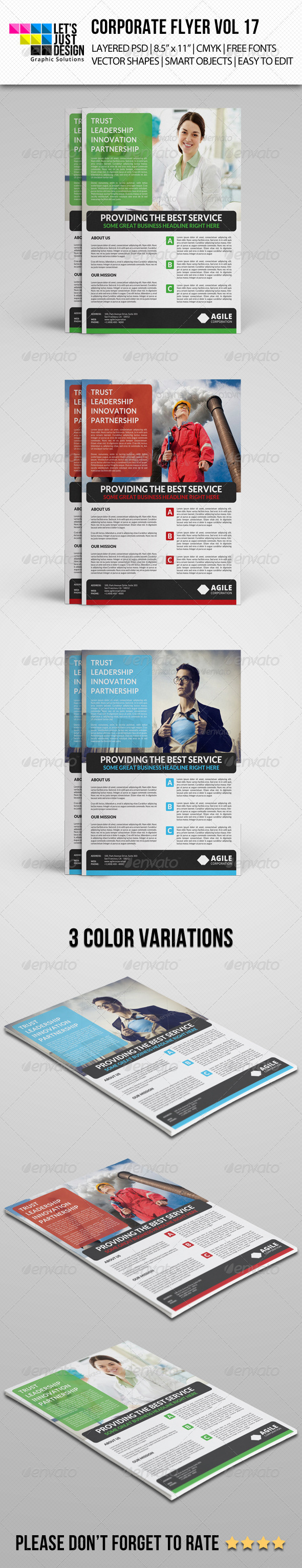 GraphicRiver Corporate Flyer Template Vol 17 7747934