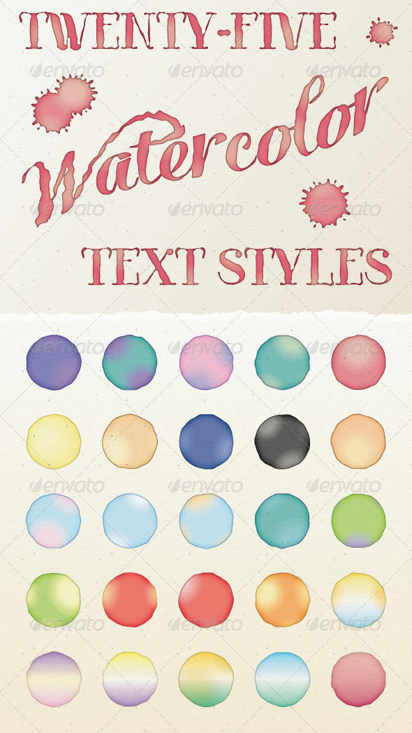 GraphicRiver Watercolor Text Styles 7748048