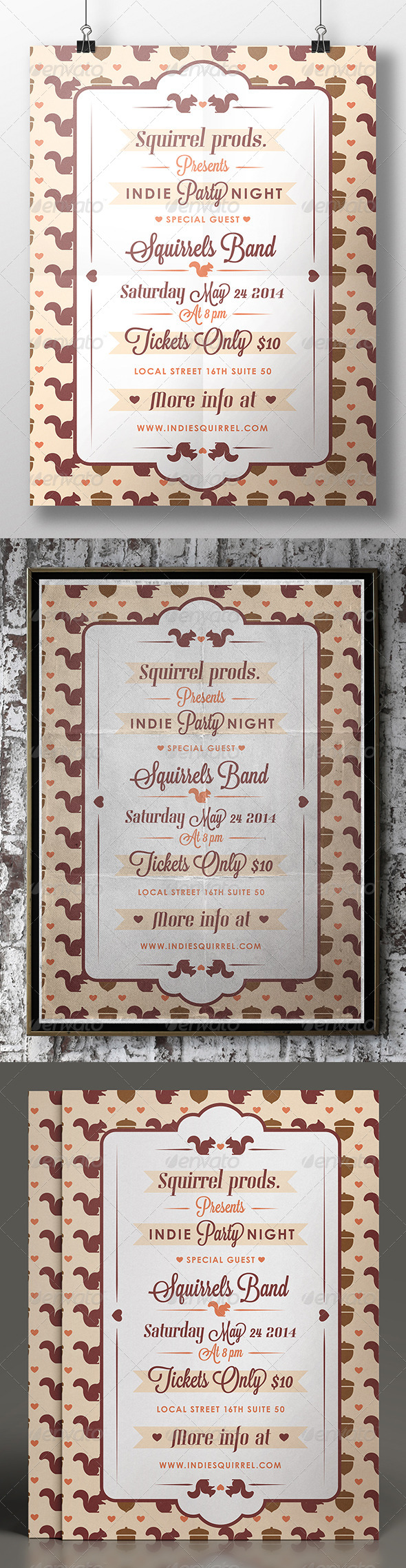 GraphicRiver Nature Squirrel Flyer 7748270