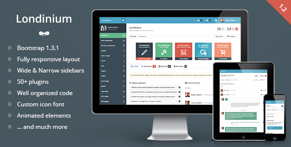 Londinium - responsive bootstrap 3 admin template - Admin Templates Site Templates
