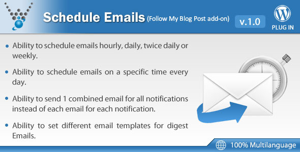 Schedule Emails - Follow My Blog Post add-on - CodeCanyon Item for Sale