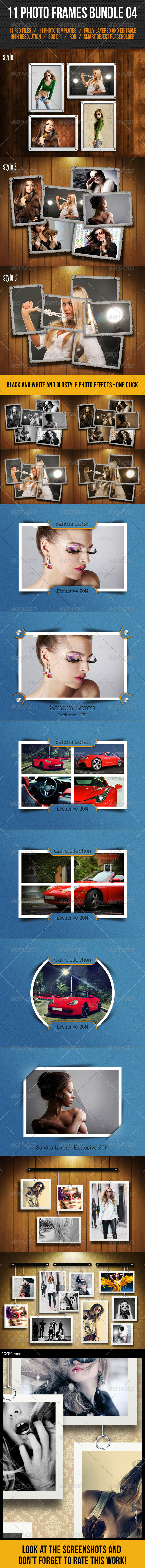 GraphicRiver 11 Photo Frames Bundle 04 7748657