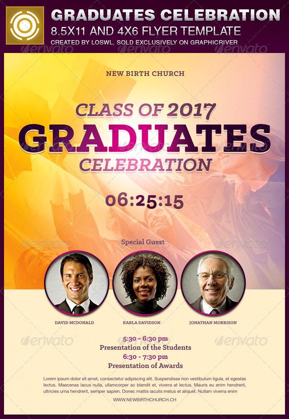 GraphicRiver Graduates Celebration Church Flyer Template 7748663