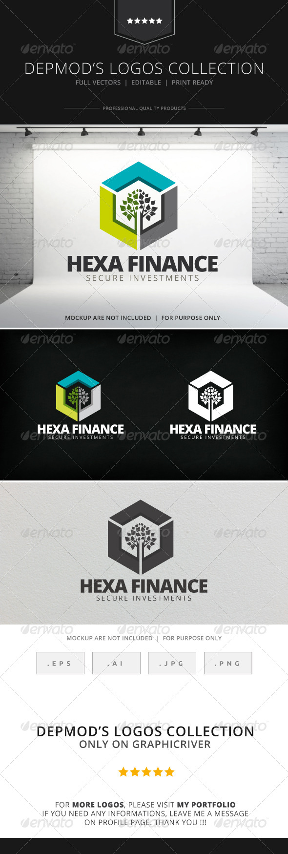GraphicRiver Hexa Finance Logo 7748676