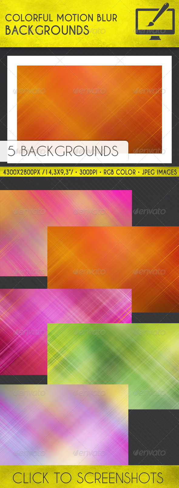 GraphicRiver Colorful Motion Blur Backgrounds 7748718