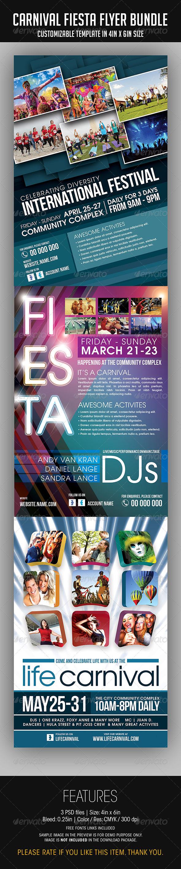 Carnival Fiesta Flyer Bundle