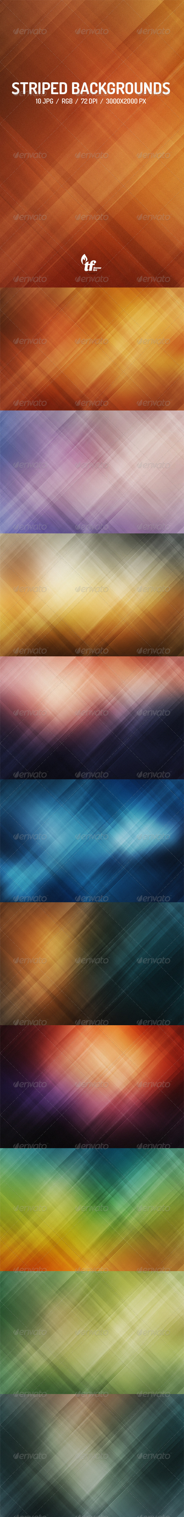 GraphicRiver Abstract Striped Backgrounds 7748780