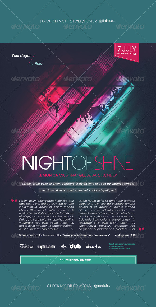 GraphicRiver Diamond Night 2 Poster Flyer 7748807