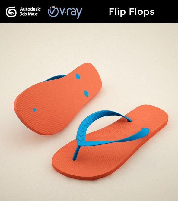 3DOcean Flip Flops 7748815