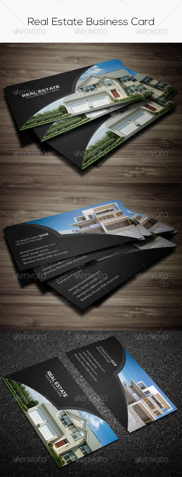 GraphicRiver Real Estate Business Card 7748892