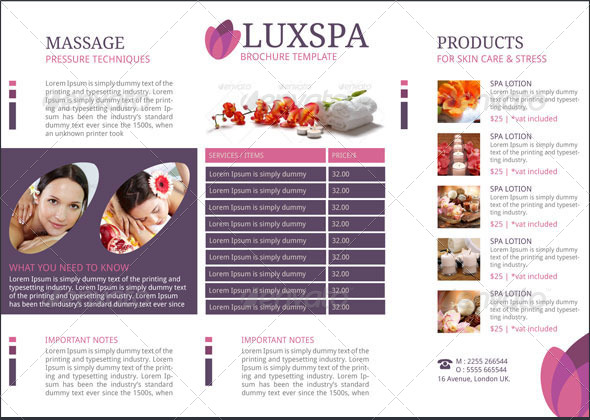 Medical Spa Brochure Template by BloganKids – Spa Brochure Template