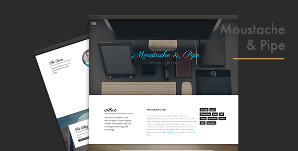 ThemeForest Moustache & Pipe 7748939