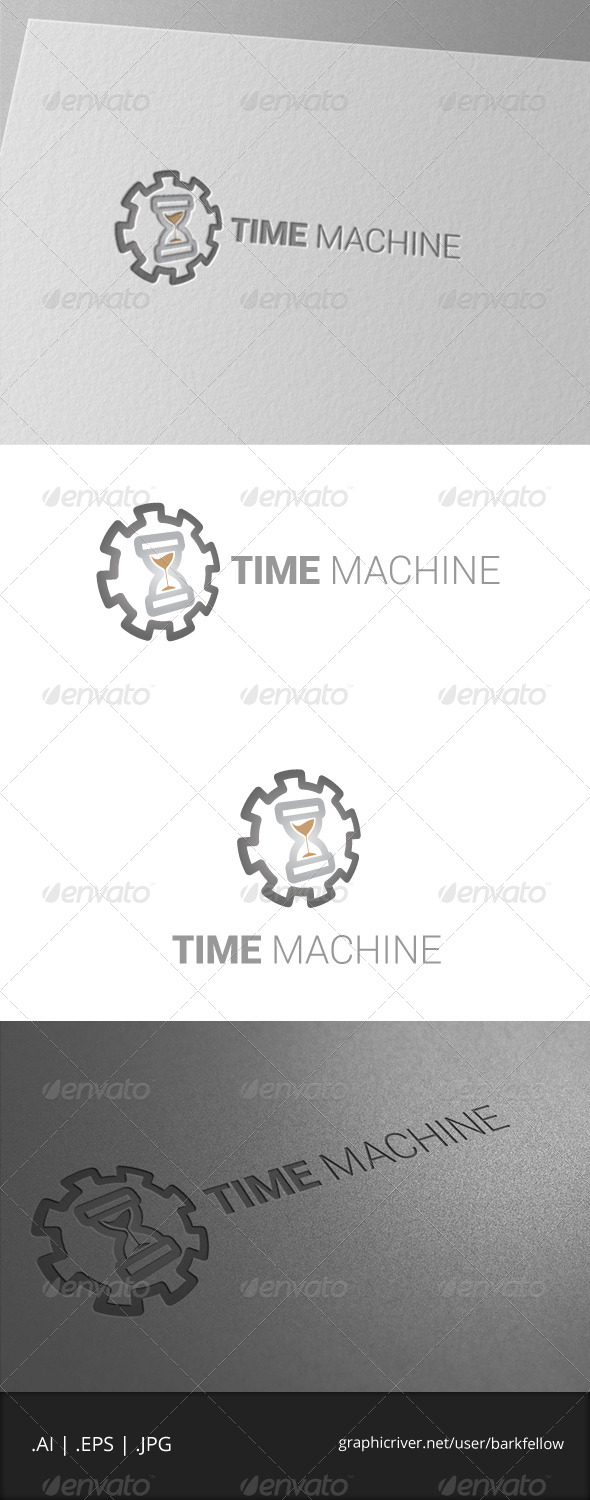GraphicRiver The Time Machine Logo Template 7046209