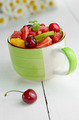 Green cup with fruits - PhotoDune Item for Sale