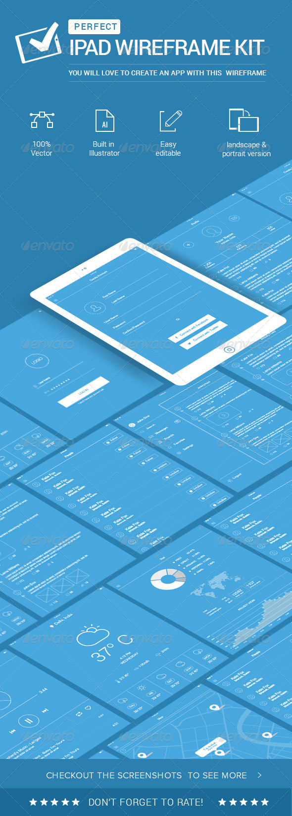 GraphicRiver IPad Wireframe Kit 7749133