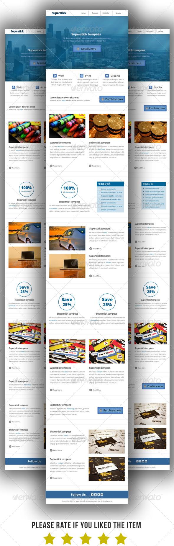 GraphicRiver Multipurpose E-Newsletter Template 7749595