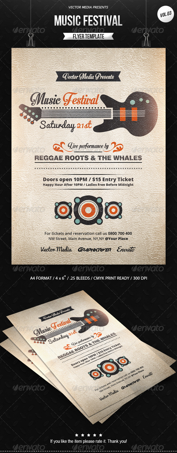 GraphicRiver Music Festival Flyer [Vol.3] 7749606